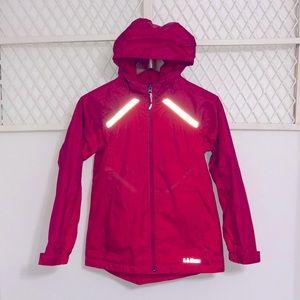 L.L. BEAN Fleece Lined Windbreaker Jacket Red